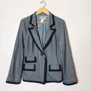 Anthropologie Nick & Mo Navy Blazer